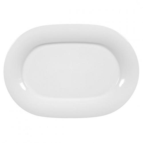 Servierplatte oval 37x25,5 cm Jade uni 3