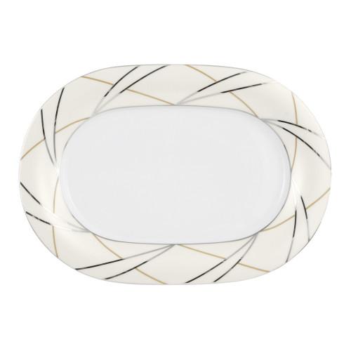 Servierplatte oval 24x17 cm Jade Silk 3669