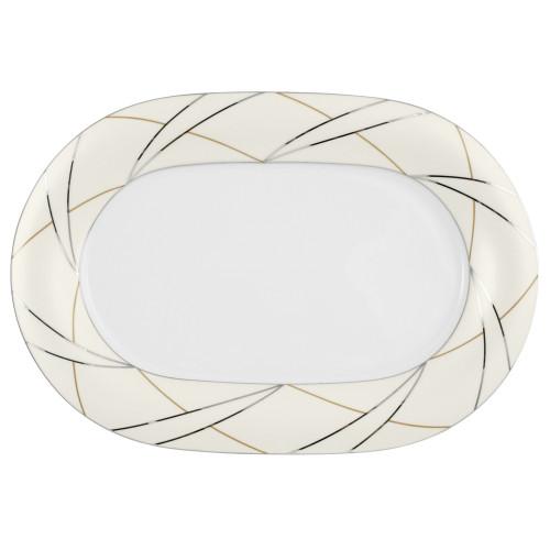 Servierplatte oval 37x25,5 cm Jade Silk 3669