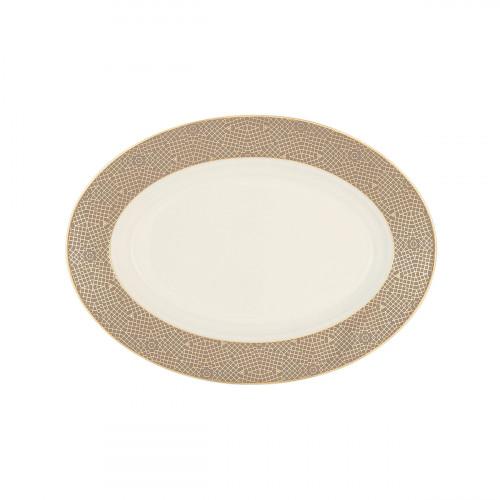Servierplatte oval 24x17,5 cm Saphir diamant Mezquita 4195
