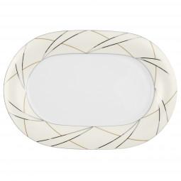 Platte oval 37 cm - Jade Silk 3669