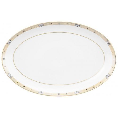 Serving platter oval 35,5x23 cm Champs Élysées Chanson 4186