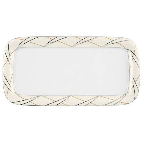 Cake platter rect. 37x18,5 cm Jade Silk 3669