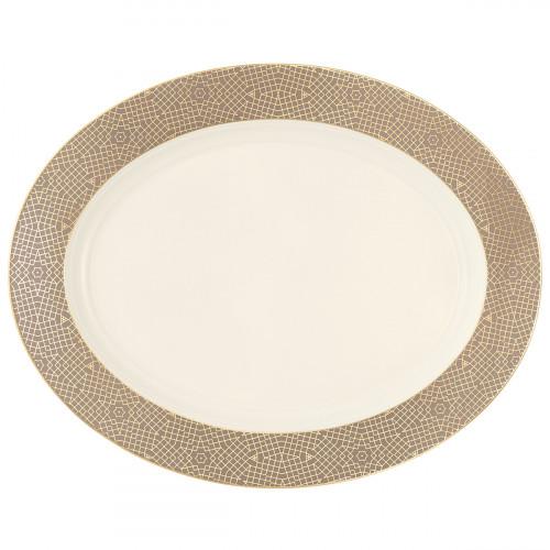 Serving platter oval 35x28 cm Saphir diamant Mezquita 4195