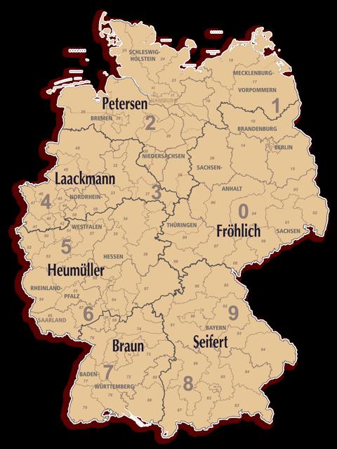 Vertreterkarte Königlich Tettau Porzellan Deutschland