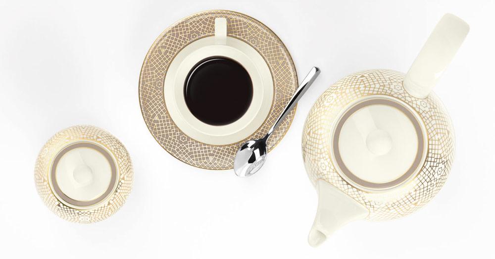 Porzellanneuheit Saphir Mezquita Kaffeegeschirr