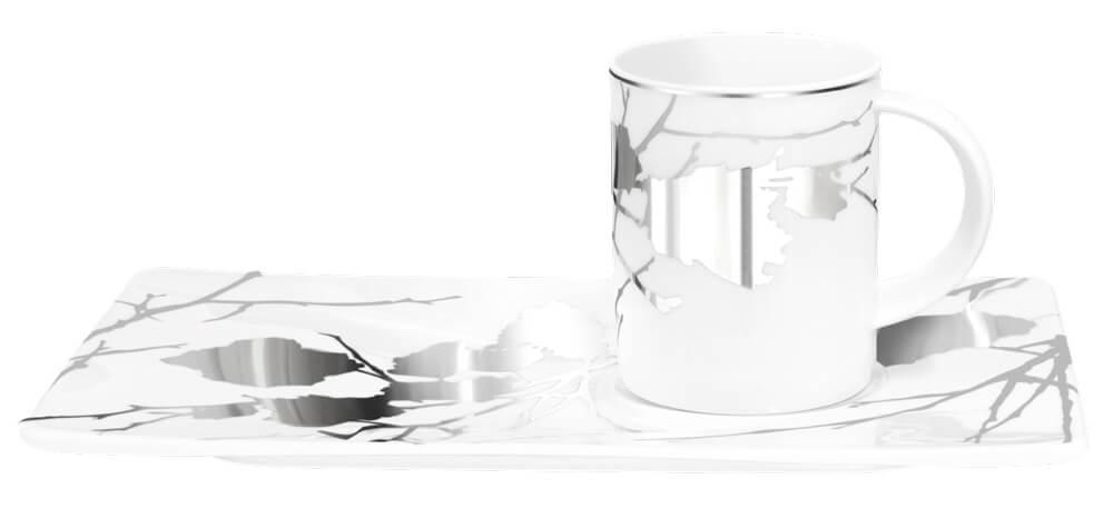 Tettau Atelier Porzellan Tablett-Set Mystery