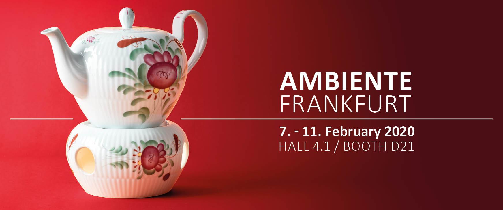 Ambiente fair in Frankfurt / Germany - Amina Ostfriesenrose